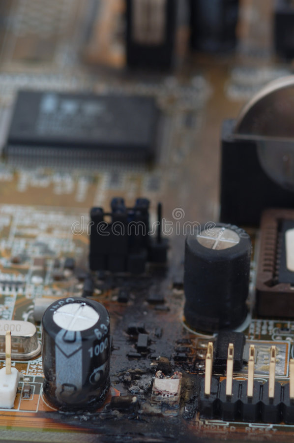 Download Fried Motherboard stock image. Image of engineering, explode - 2272909