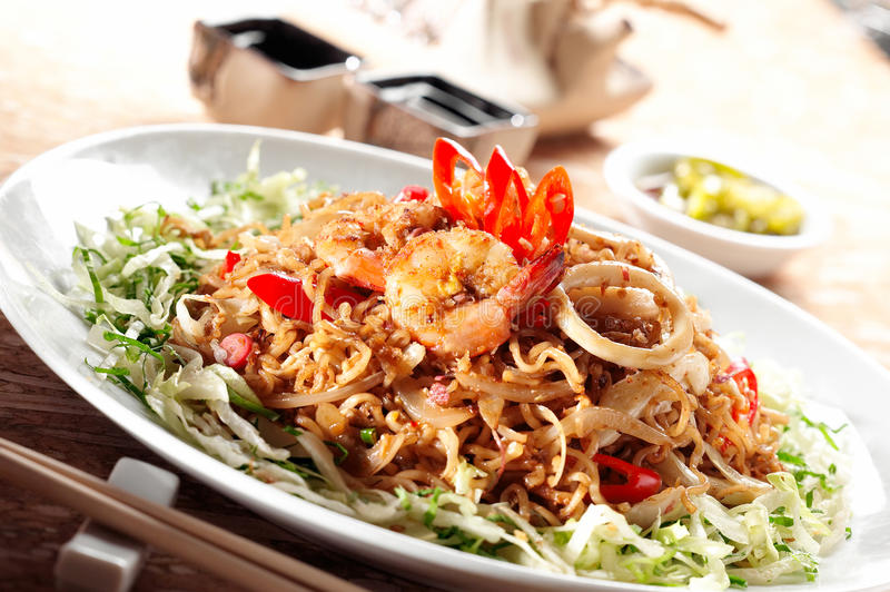 Download Fried Noodle and Mee stock image. Image of meal, cook - 25475041