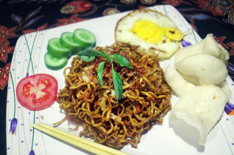 Fried Noodle Traditional Indonesian Menu foto de stock royalty free
