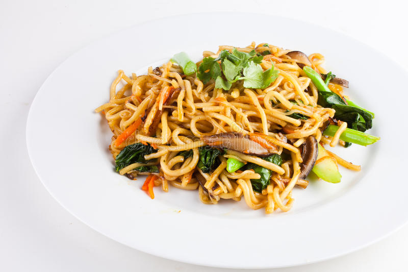 Fried Noodle1. Another name of this kind of noodle called Chow Mein that is very popular for all asian people stock photo