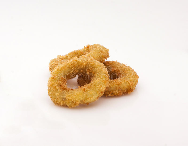 Fried onion rings in dough royalty free stock photos