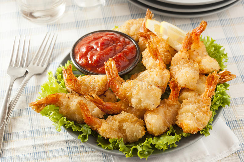 Fried Organic Coconut Shrimp image stock