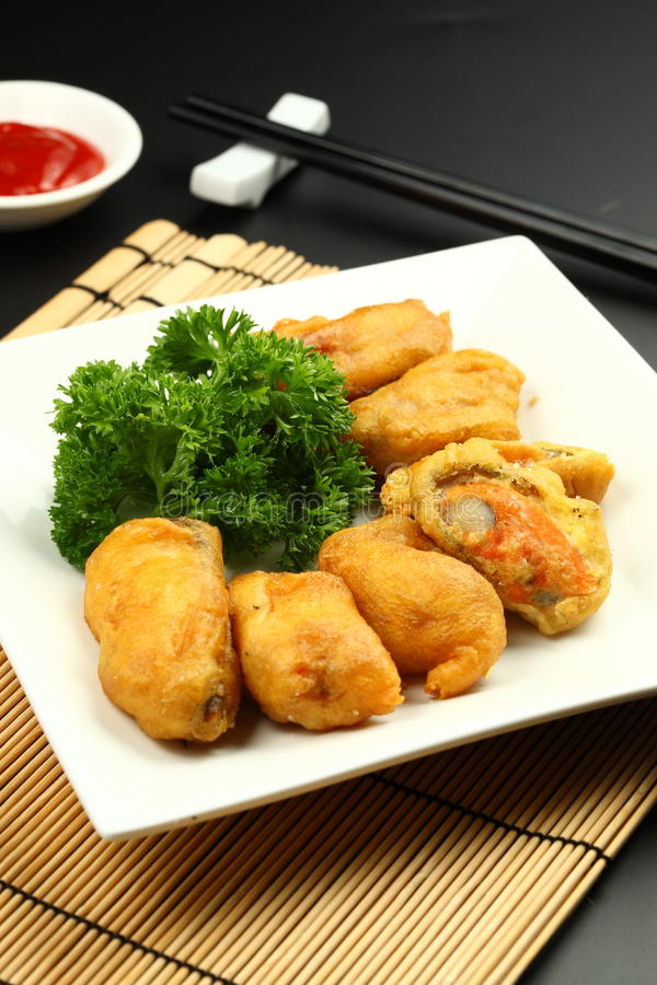 Fried Oyster royalty free stock images