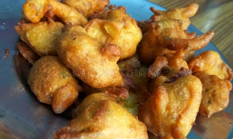 Fried Pakora fotografia de stock royalty free