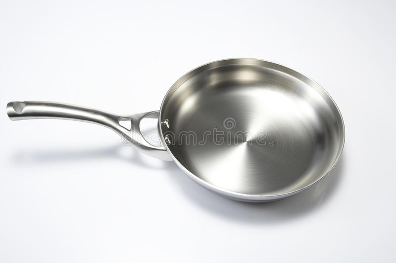Fried pan. In white background stock photo