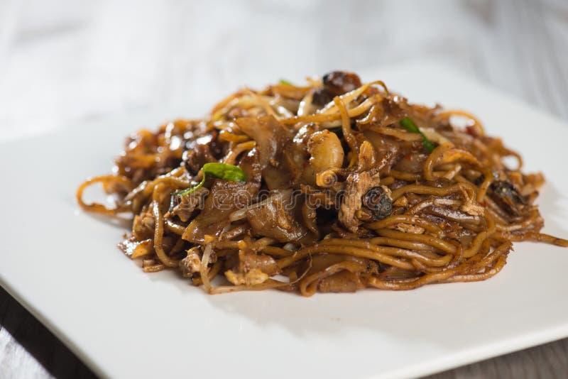 Fried Penang Char Kuey Teow foto de archivo
