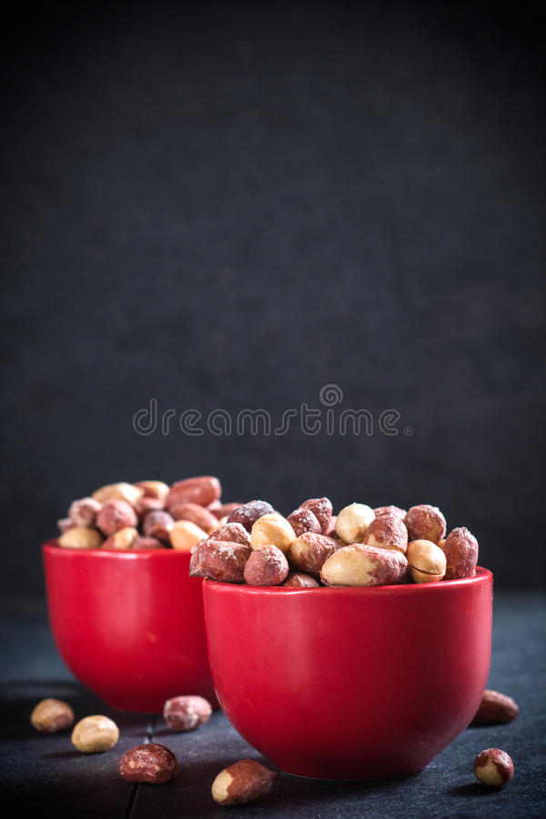 Fried penuts royalty free stock photos