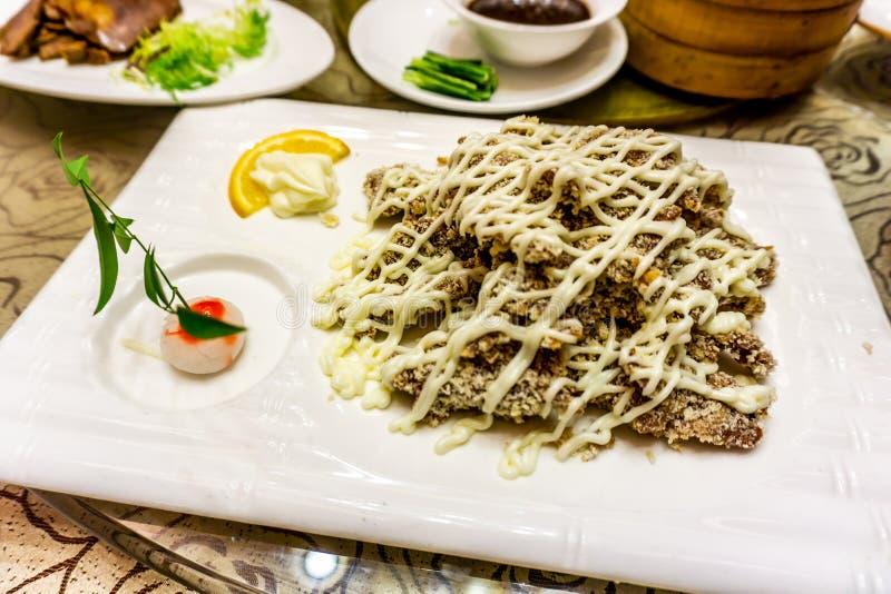 Fried Pork Cutlet profundo chinês fotos de stock royalty free