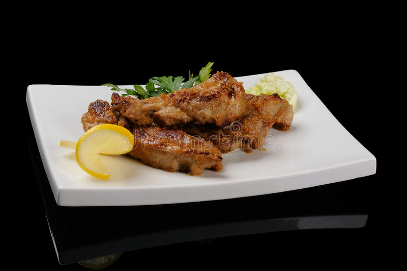 Download Pork ribs stock image. Image of dish, ribs, food, plate - 29846545