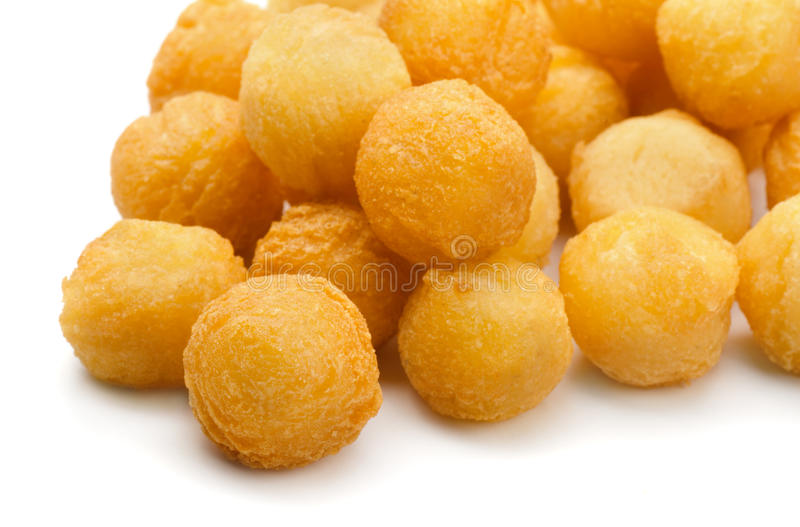 Fried potato balls stock images