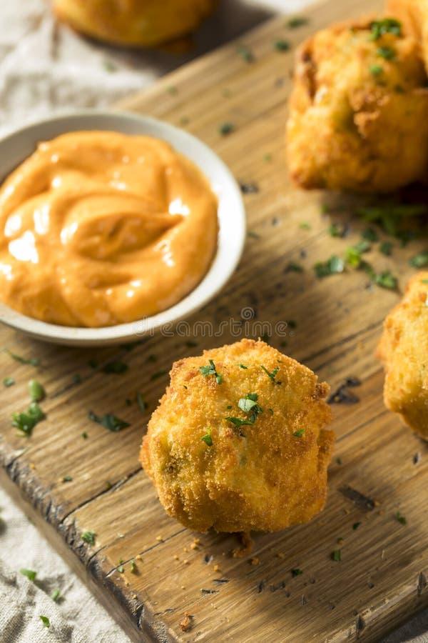 Fried Potato Croquettes profond fait maison photos stock