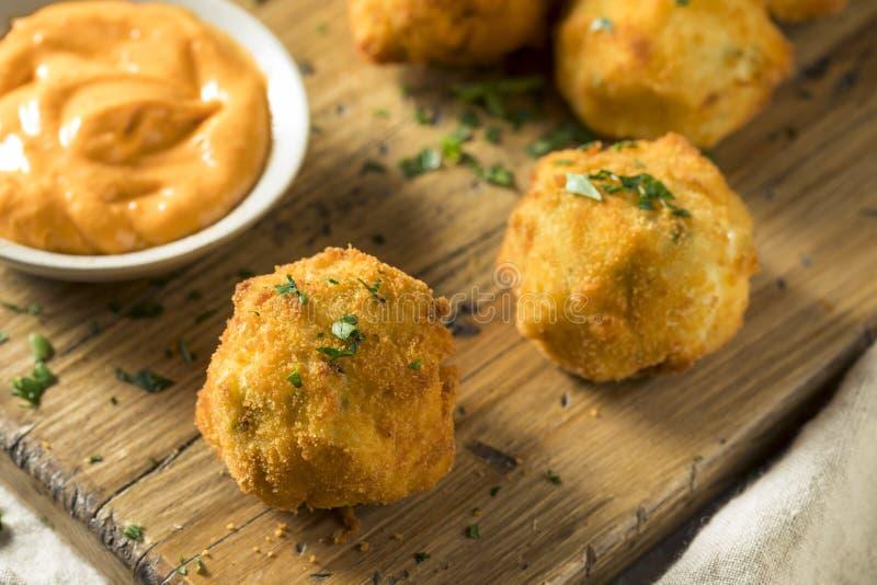 Fried Potato Croquettes profond fait maison images stock