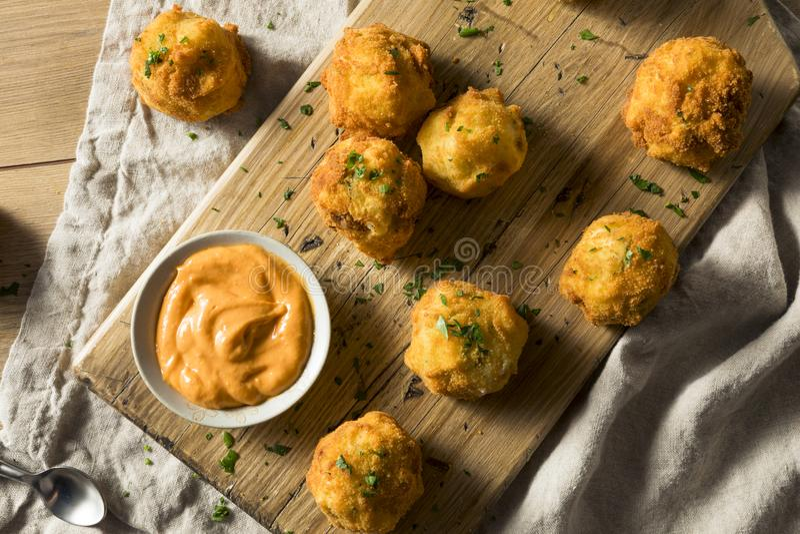 Fried Potato Croquettes profond fait maison photographie stock libre de droits