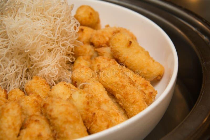 Fried Potato croustillant d'or images libres de droits