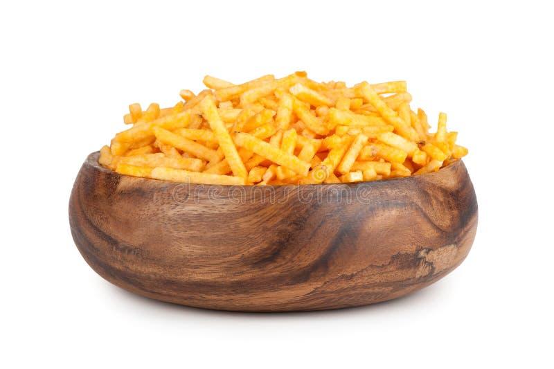 Fried Potato dans une cuvette photo stock