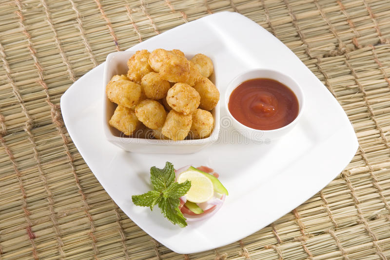 Fried Potato Nuggets fotografia de stock