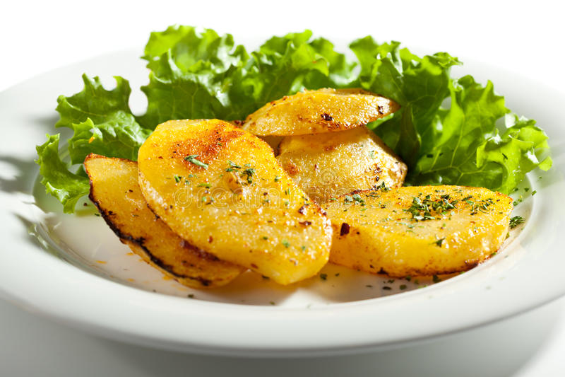 Fried Potato Slice photographie stock