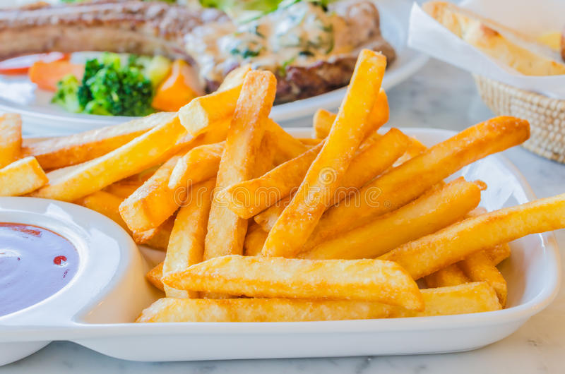 Fried Potato stock photos