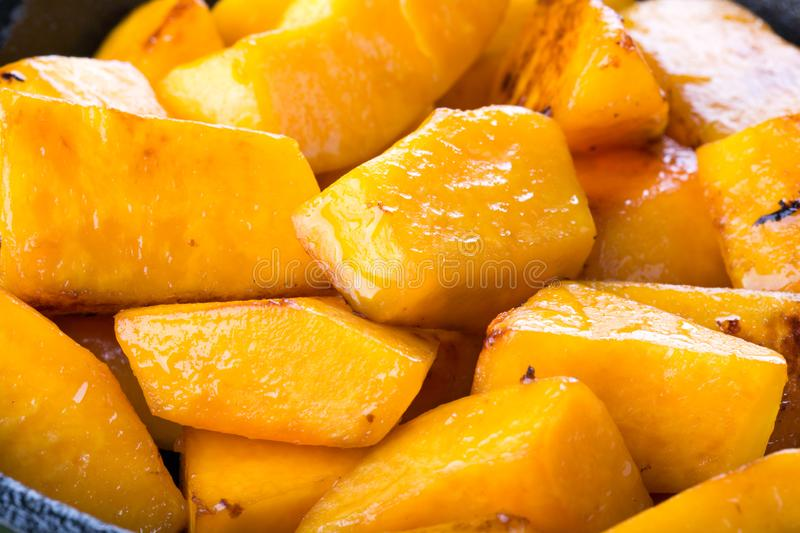 Fried pumpkin background royalty free stock photo