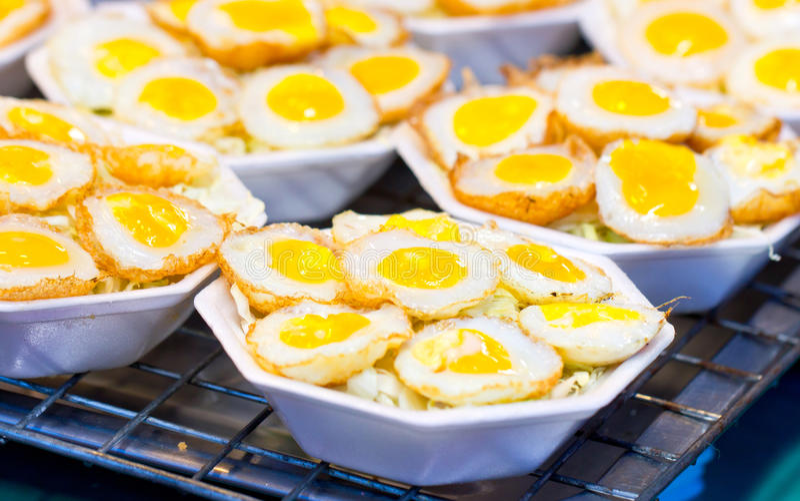 Fried Quail Egg. royalty-vrije stock foto