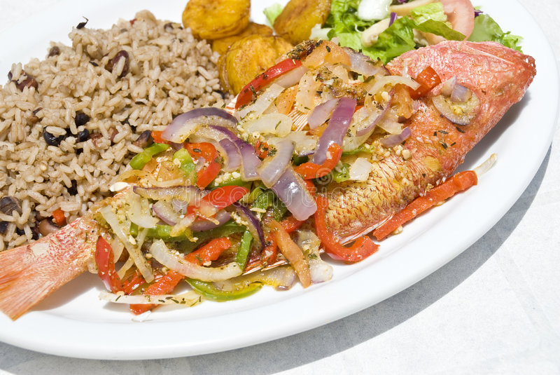 Fried Red Snapper royalty free stock photography
