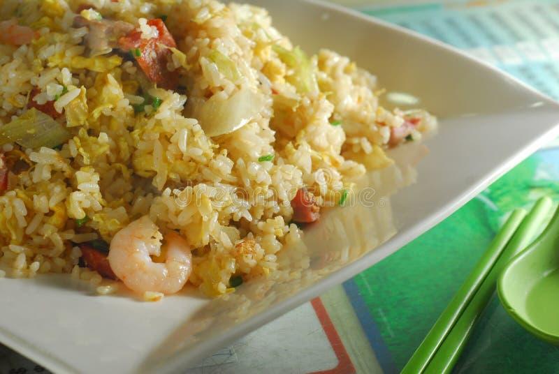 Fried rice. Shrimp BBQ pork chop fried rice stock photos