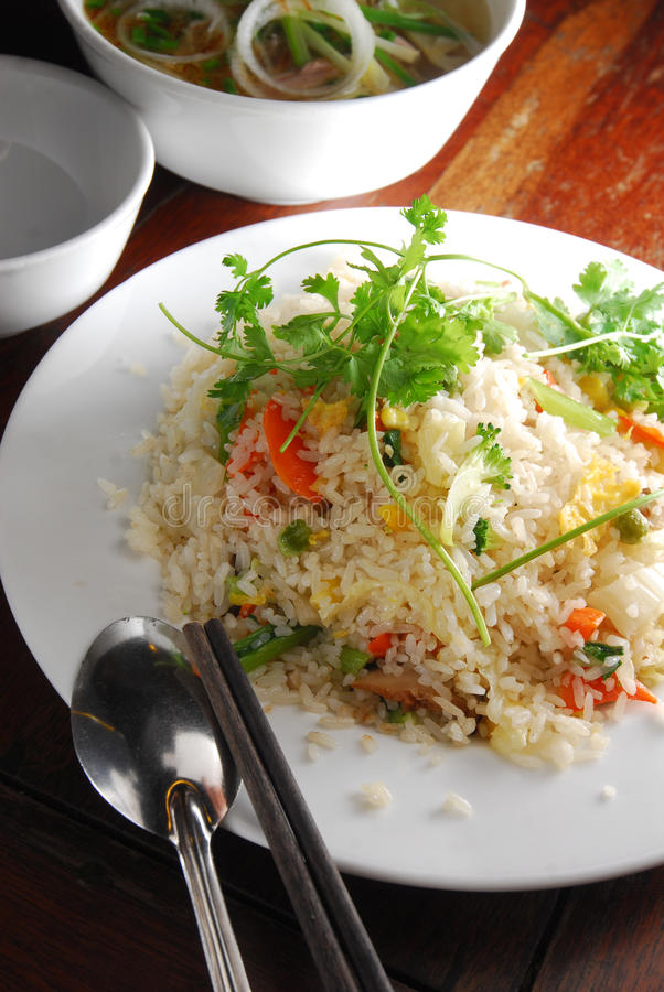 Download Fried rice stock photo. Image of style, fork, spoon, food - 22597372