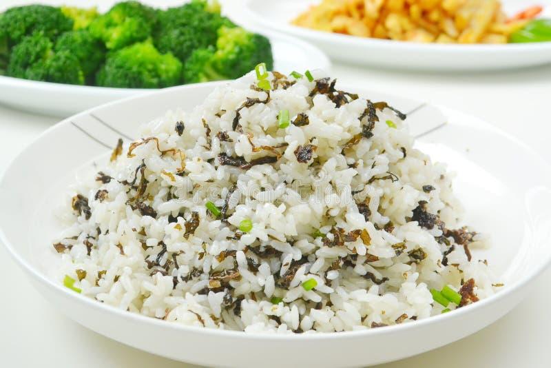 Fried rice. Closeup of shrimp dices fried rice stock photos