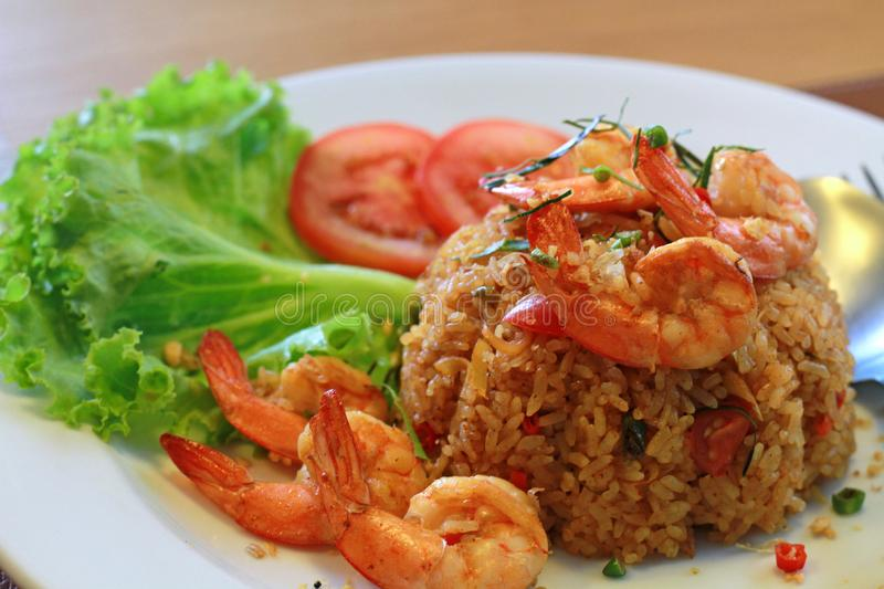 Fried Rice com Tom Yum Kung imagens de stock royalty free