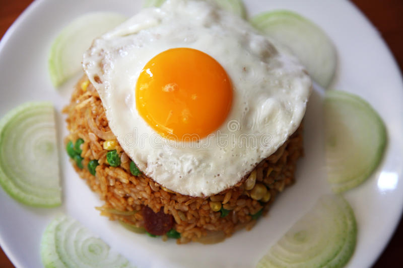 Fried rice with egg royalty free stock photography