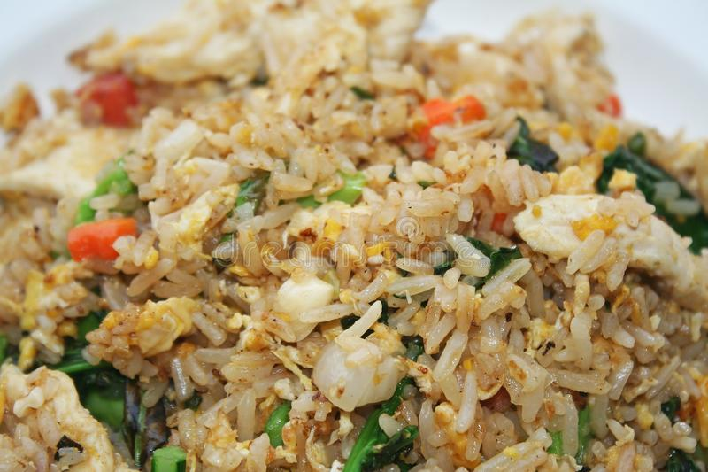 Fried rice with egg. Close up Fried rice with egg royalty free stock photography