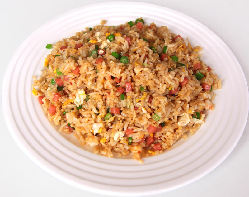 Fried rice with egg. A kind of food,from China. very delicious.Fresh delicious, pure and fresh and natural. fried rice with egg stock photo