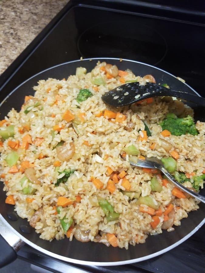 Fried Rice hecho en casa fotos de archivo libres de regalías