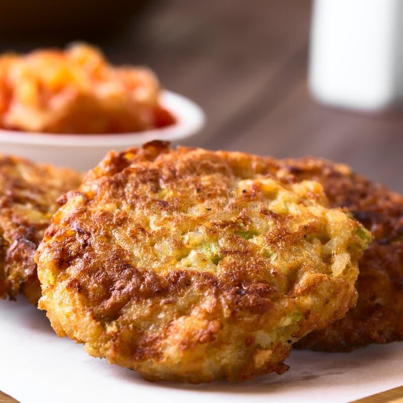 Fried Rice Patties ou beignets photo stock