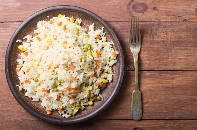 Fried rice in plate stock images