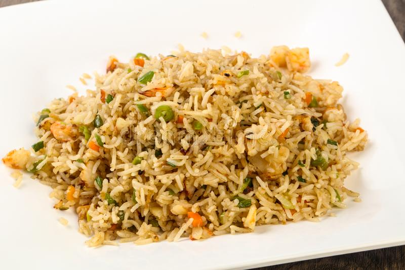 Fried rice with prawn stock images