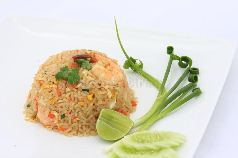 Fried rice with seafood. Of thailand stock photography