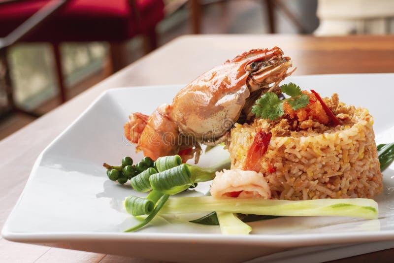 fried rice with shrimp - Thai halal food stock photos
