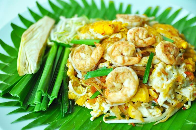 Fried Rice Sticks con gamberetto fotografia stock libera da diritti