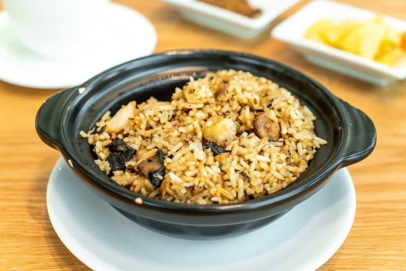 fried rice with taro stock photos