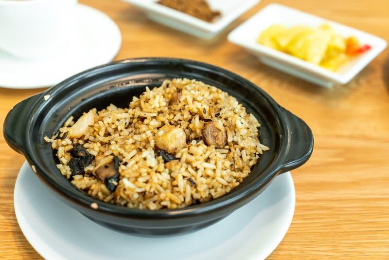 fried rice with taro stock image