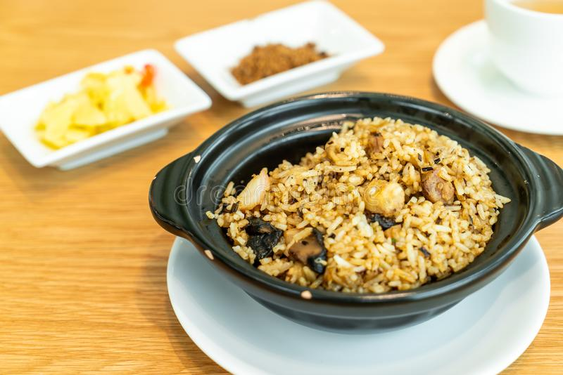 fried rice with taro royalty free stock images