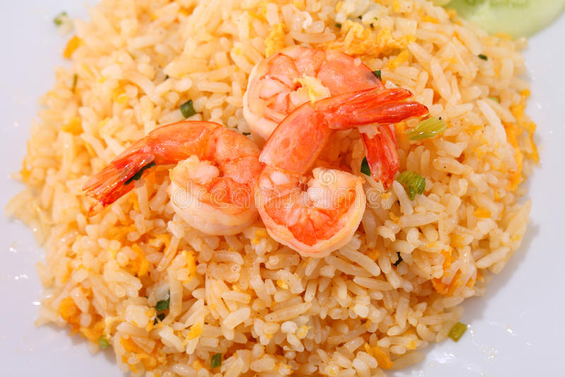 Fried rice thai food,Shrimp fried rice. royalty free stock photography