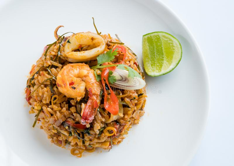 Fried Rice Tom Yum stockfoto