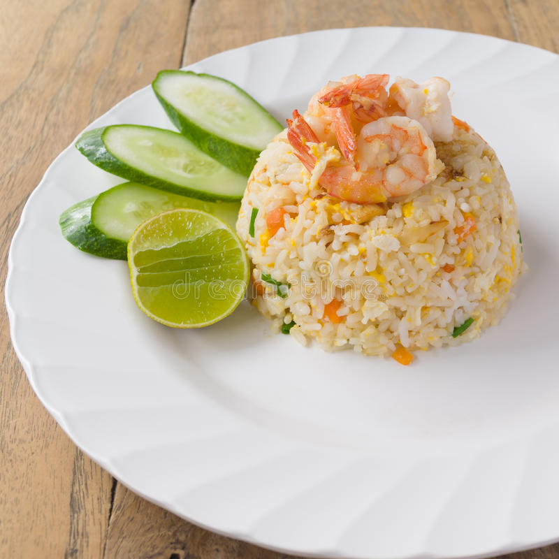 Free Fried Rice With Shrimp Royalty Free Stock Photo - 38770395