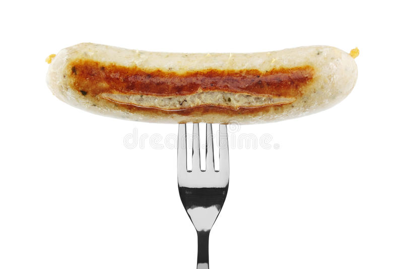 Fried sausage stock photo