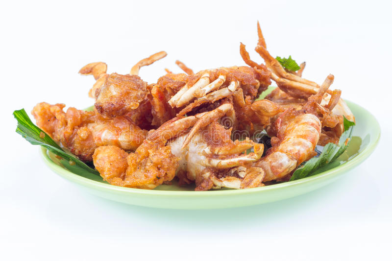 Fried sea food shim stock images
