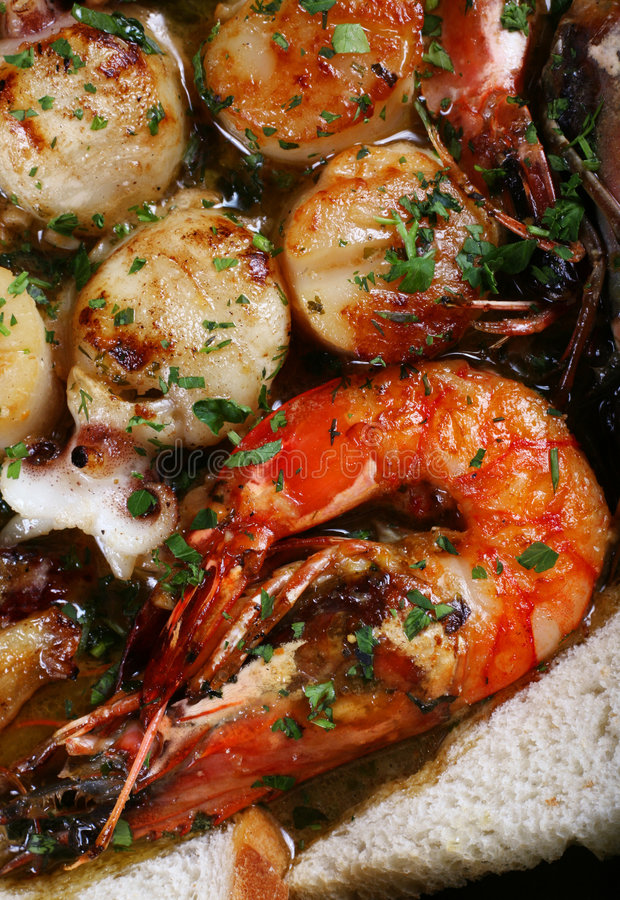 Download Fried seafood allsort stock image. Image of close, plate - 4471529