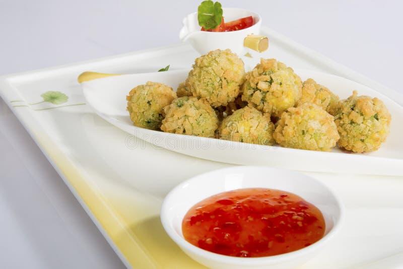 Fried shrimp Chinese food stock images