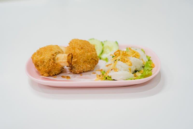 Fried Shrimp com Sugar Cane com macarronetes chineses, alimento de Vietname fotografia de stock royalty free